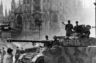 Carro armato tedesco a Milano il 9 settembre 1944
